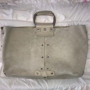 Roger Vivier Paris Grey Suede Bag